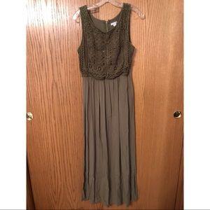 Xhilaration Olive Green Maxi Dress